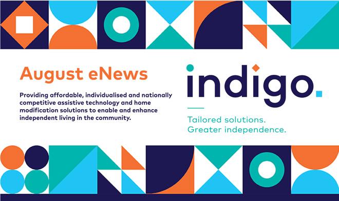August eNews banner with Indigo mission
