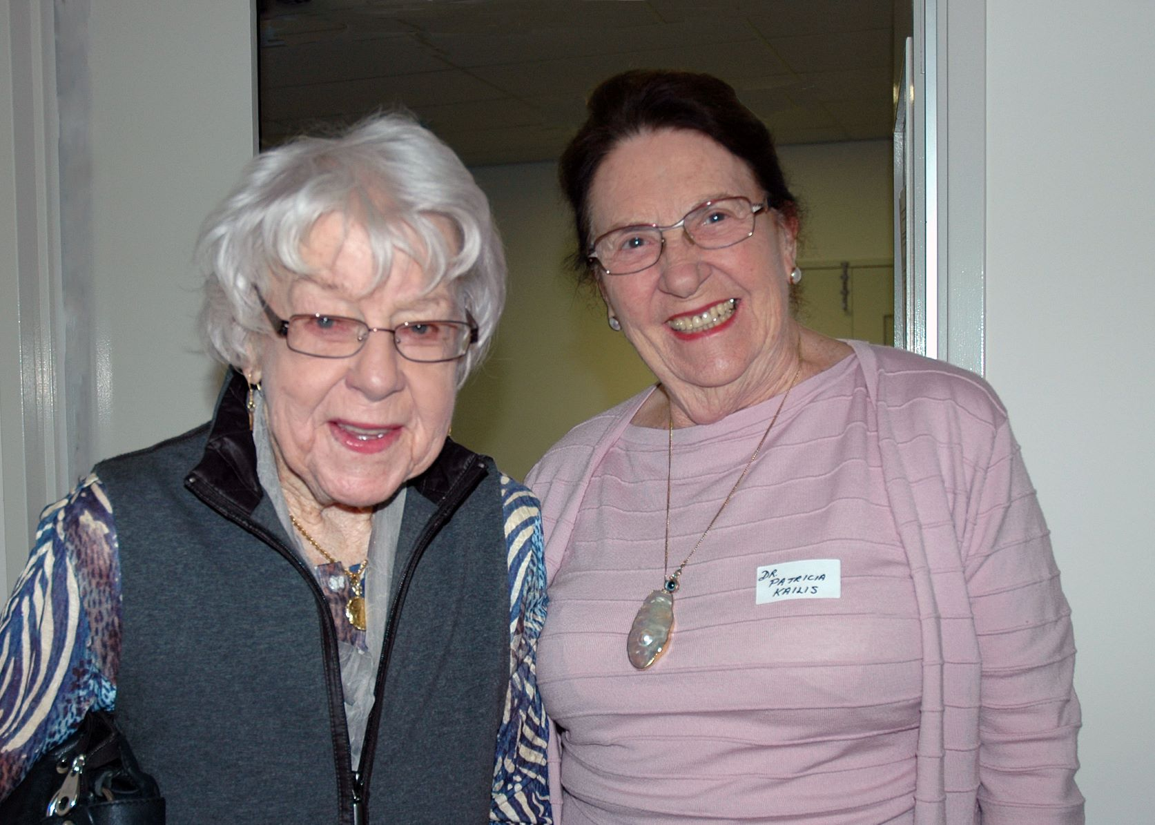 Indigo Founder the late Freda Jacob and Life Member the late Dr Patricia Kailis, both smiling